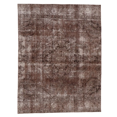7'2 x 9'4 Hand-Knotted Persian Overdyed Area Rug