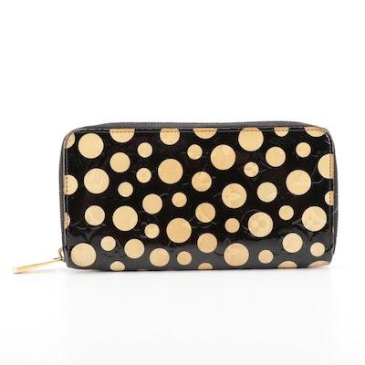 Louis Vuitton Yayoi Kusama Monogram Vernis Dots Zippy Wallet in Black