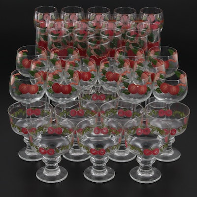 """Franciscan """"Apple"""" Glassware, Late 20th Century"""