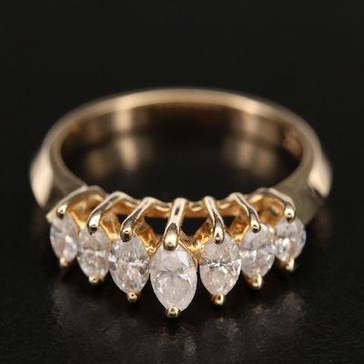 14K 0.50 CTW Diamond Stepped Ring