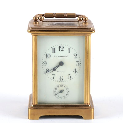 D.R. Dingwall Brass Carriage Clock, Early 20th Century