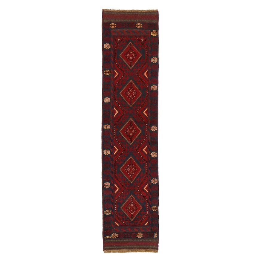 2' x 8'8 Handwoven Afghan Turkmen Mixed Technique Carpet Runner