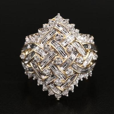 10K 0.25 CTW Diamond Woven Ring