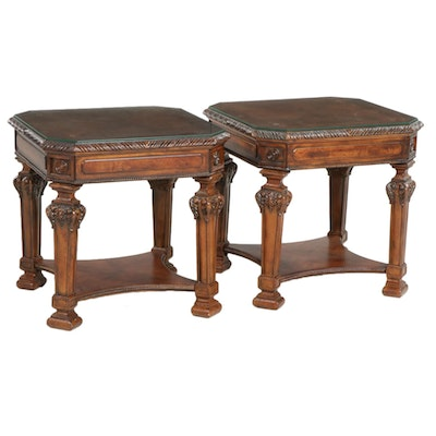 Pair of Contemporary Wooden Side Tables