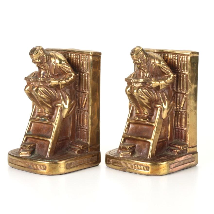 Armor Bronze Co. Gilt Bronze Scholar Bookends, Early 20th Century