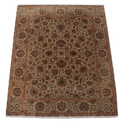 8'3 x 10'1 Hand-Knotted Indian Floral Area Rug