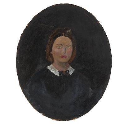 Folk Oil Portrait, Late 19th Century