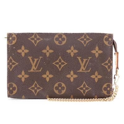 Louis Vuitton Pochette in Monogram Canvas with Chain