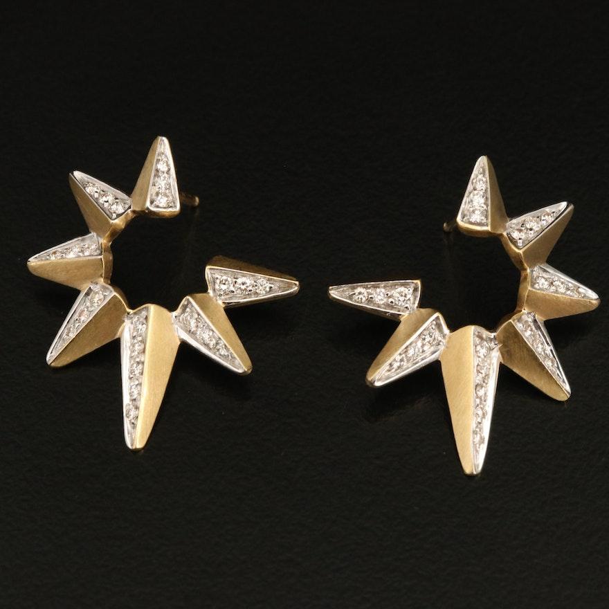 18K 0.57 CTW Diamond Star Earrings