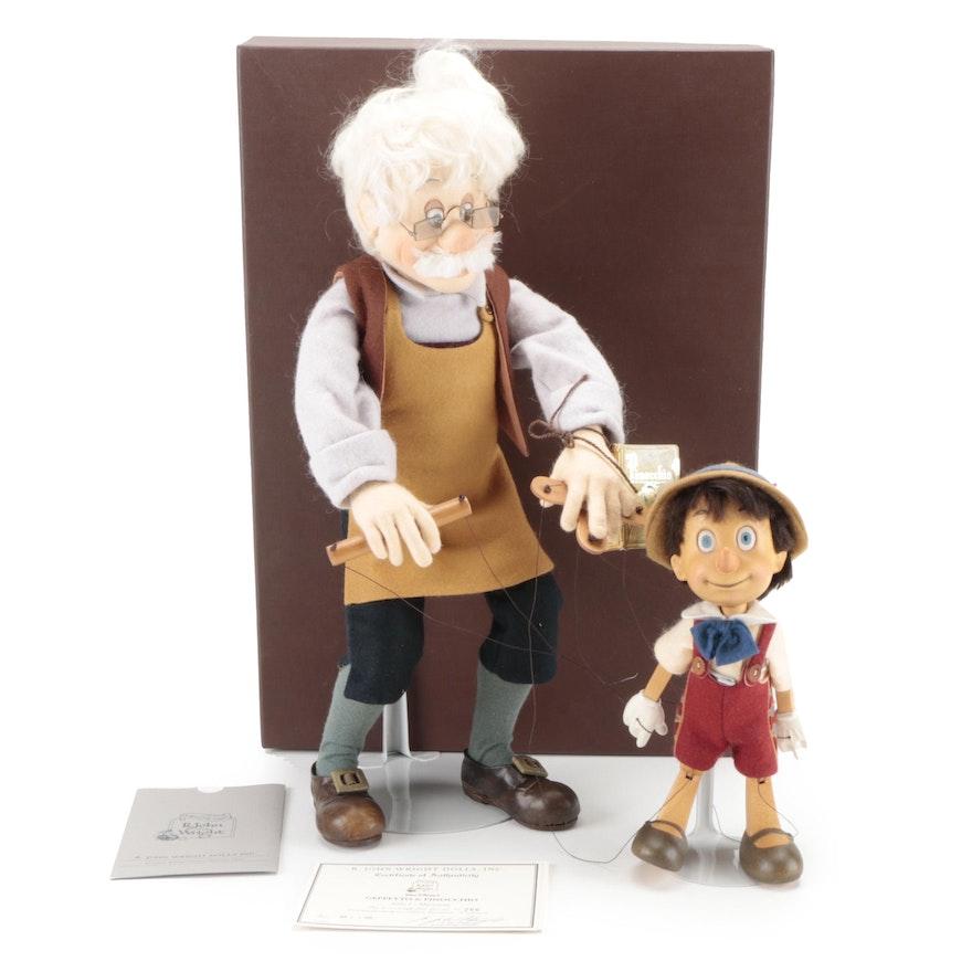 "R. John Wright Walt Disney's ""Geppetto & Pinocchio"" Series I Marionette"
