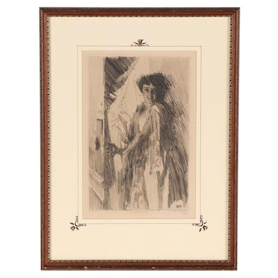 """Figural Etching After Anders Zorn """"Rosita Mauri"""""""