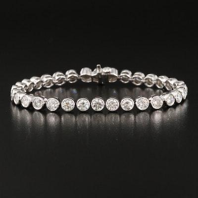 14K Bezel Set 8.00 CTW Diamond Line Bracelet