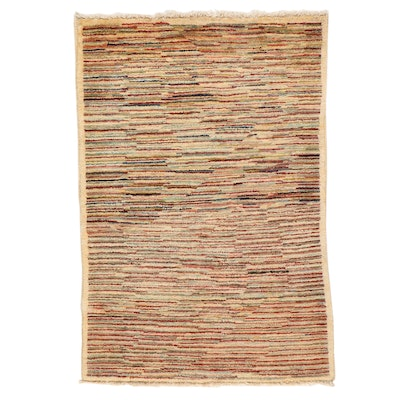 2'8 x 3'11 Hand-Knotted Pakistani Gabbeh Accent Rug