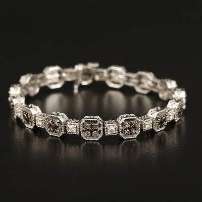 14K 2.39 CTW Diamond Square Link Bracelet