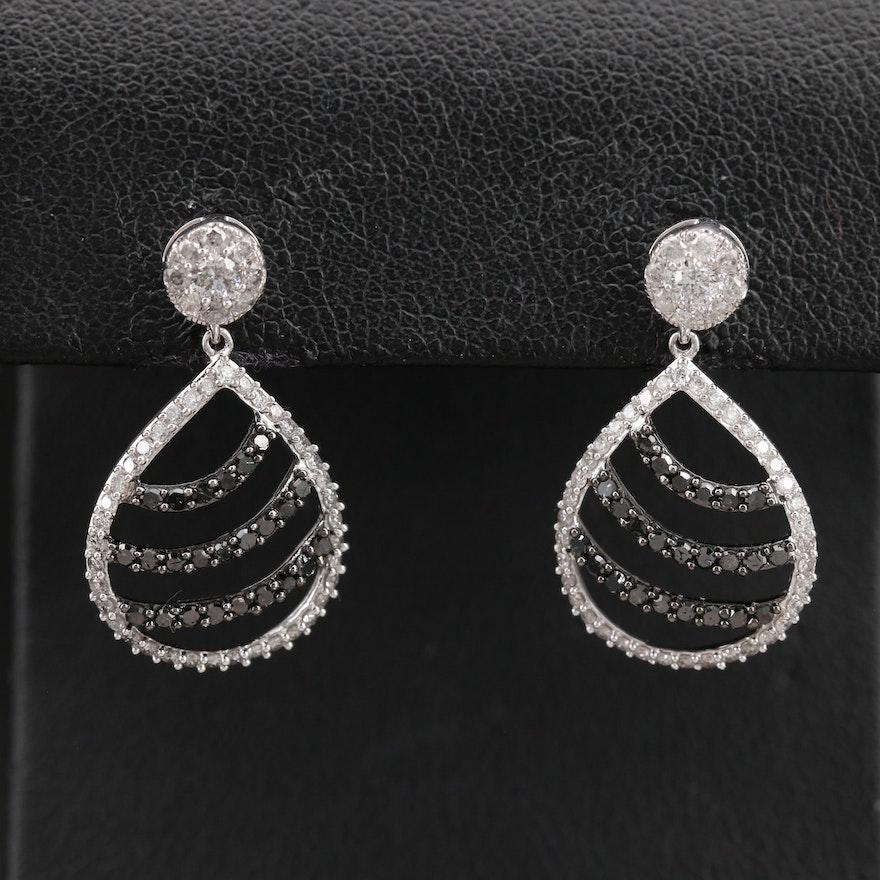 14K 1.32 CTW Diamond Openwork Earrings
