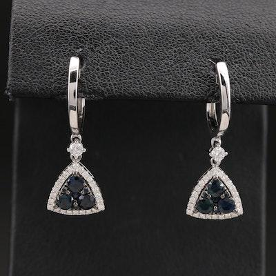 14K Sapphire and Diamond Earrings