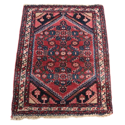 2'3 x 2'10 Hand-Knotted Persian Malayer Accent Rug