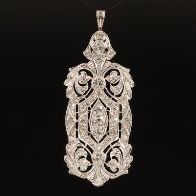 Edwardian Platinum 2.68 CTW Diamond Pendant