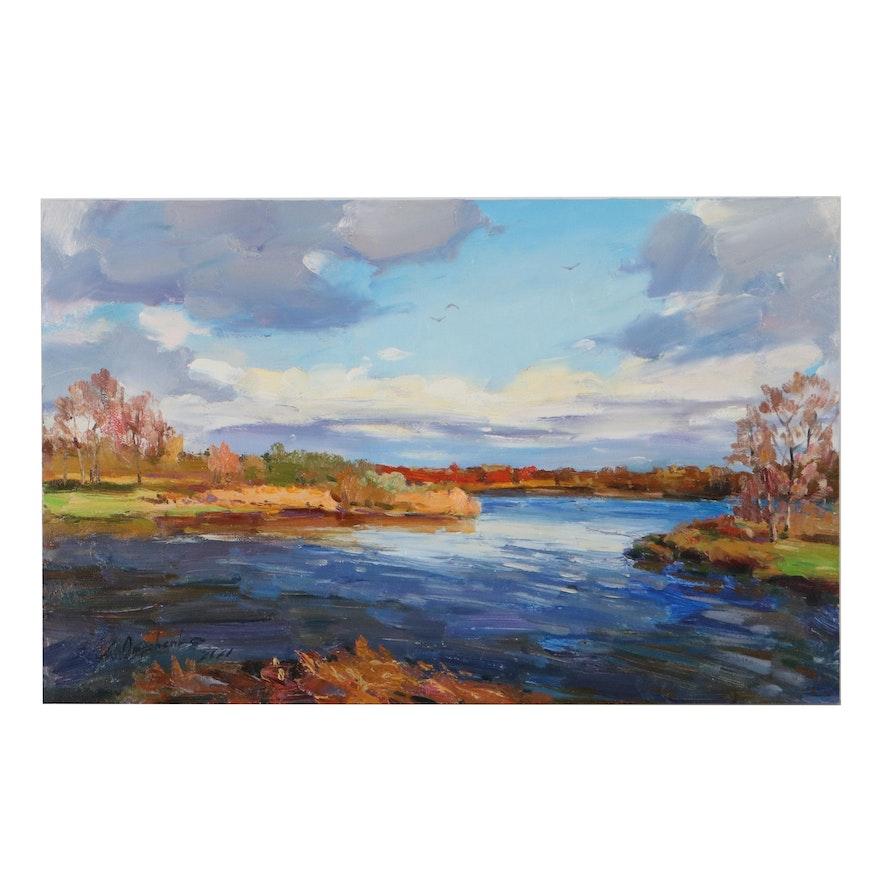 """Alisa Onipchenko Oil Painting """"Windy,"""" 2021"""
