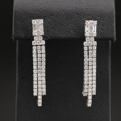 14K 2.88 CTW Diamond Drop Earrings