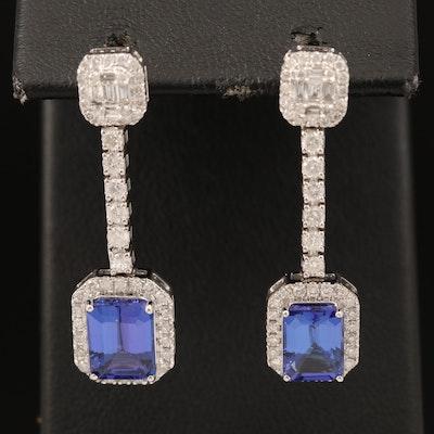14K Tanzanite and 1.27 CTW Diamond Earrings