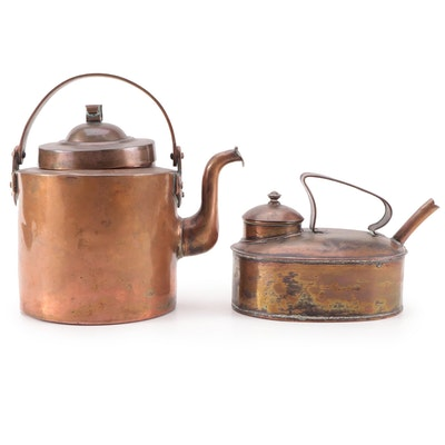 Hand-Forged Copper Kettles, Late 19th/Early 20th Century