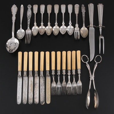 """Towle """"Fontana"""" and Other Sterling, Coin Silver and Plate Flatware and Serveware"""