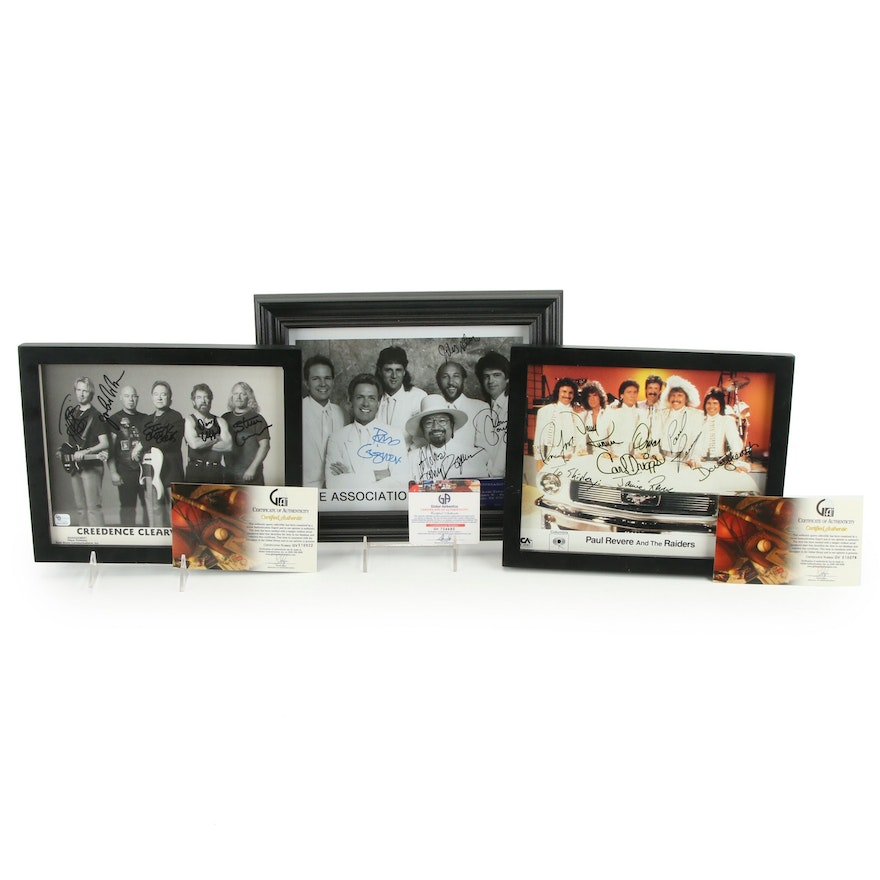 """""""Paul Revere and the Raiders,"""" """"The Association,"""" and Other Signed Prints, COAs"""