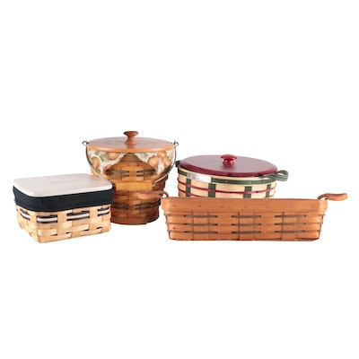 Longaberger Handwoven Address Card and Other Baskets, 1992–2007
