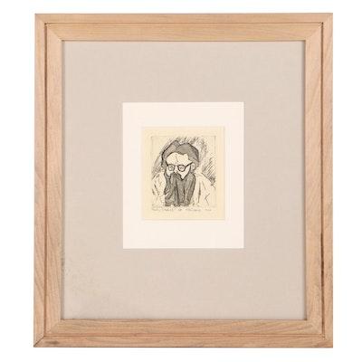 "Etching With Aquatint ""Kelly Sketch I,"" 1966"