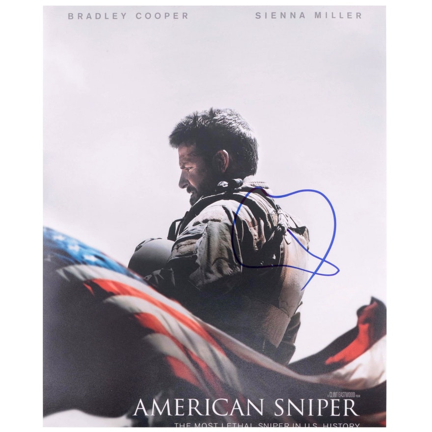 "Bradley Cooper Signed ""American Sniper"" Movie Print"