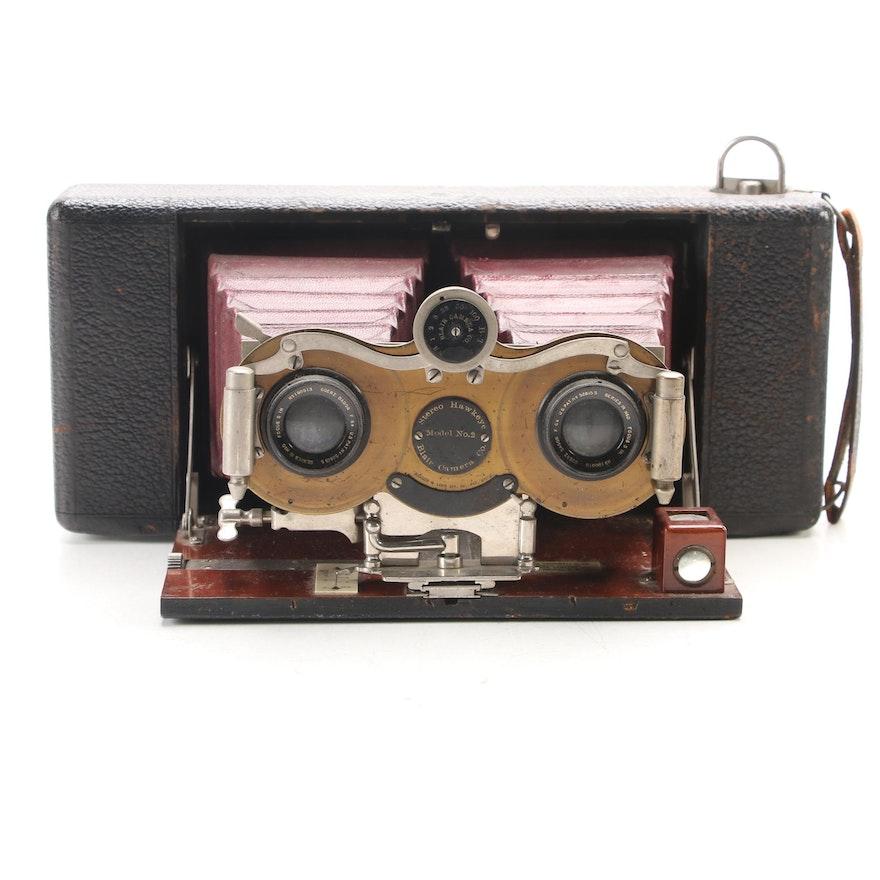 Blair Camera Co. Stereo Hawkeye Model No 2 Stereoscopic Camera, 1904-1907