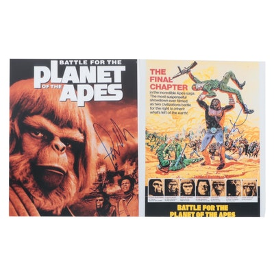 """Paul Williams Signed """"Battle for the Planet of the Apes"""" Movie Photo Prints"""