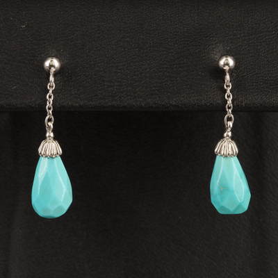 14K Turquoise Drop Earrings