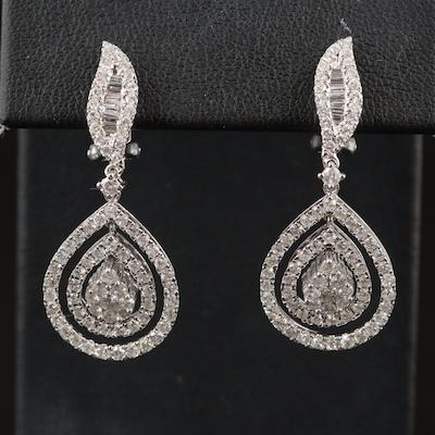 14K 2.61 CTW Diamond Teardrop Earrings