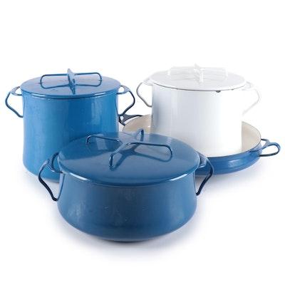 Dansk Kobenstyle Blue and White Enameled Cookware