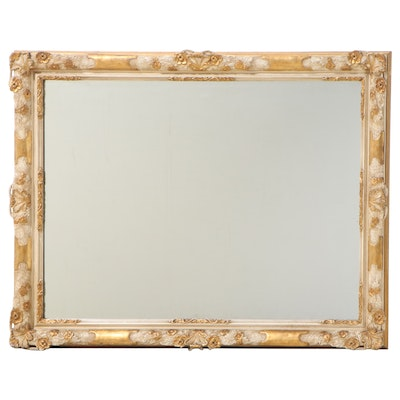 Frank B. Mauk and Associates Cream-Painted and Parcel-Gilt Overmantel Mirror