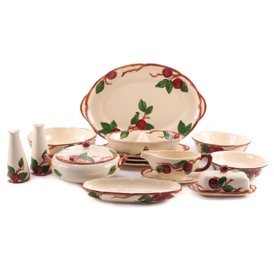 """Franciscan """"Apple"""" Earthenware Serveware and Table Accessories, Late 20th C."""
