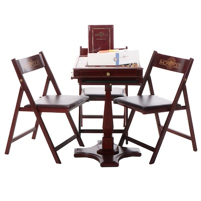 Franklin Mint Monopoly, The Collector's Edition, with Table, Chairs, COA, 1991