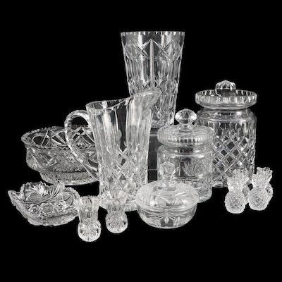 Crystal and Cut Glass Lidded Jars, Serveware and Tableware