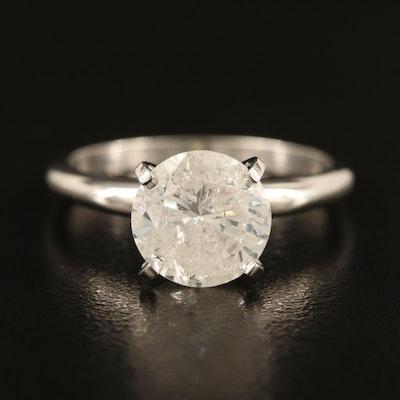 Platinum 2.57 CT Diamond Solitaire Ring