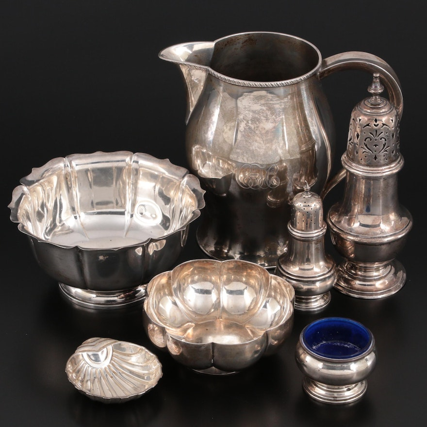 Shreve, Crump & Low Sterling Silver Revere Reproduction Pitcher and More
