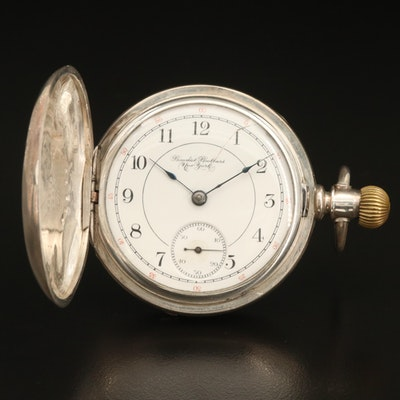 1894 Benedict Brothers New York Coin Silver Pocket Watch