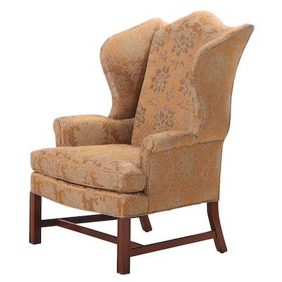 "Kittinger ""Williamsburg Adaptation"" Chippendale Style Mahogany Wingback Armchair"