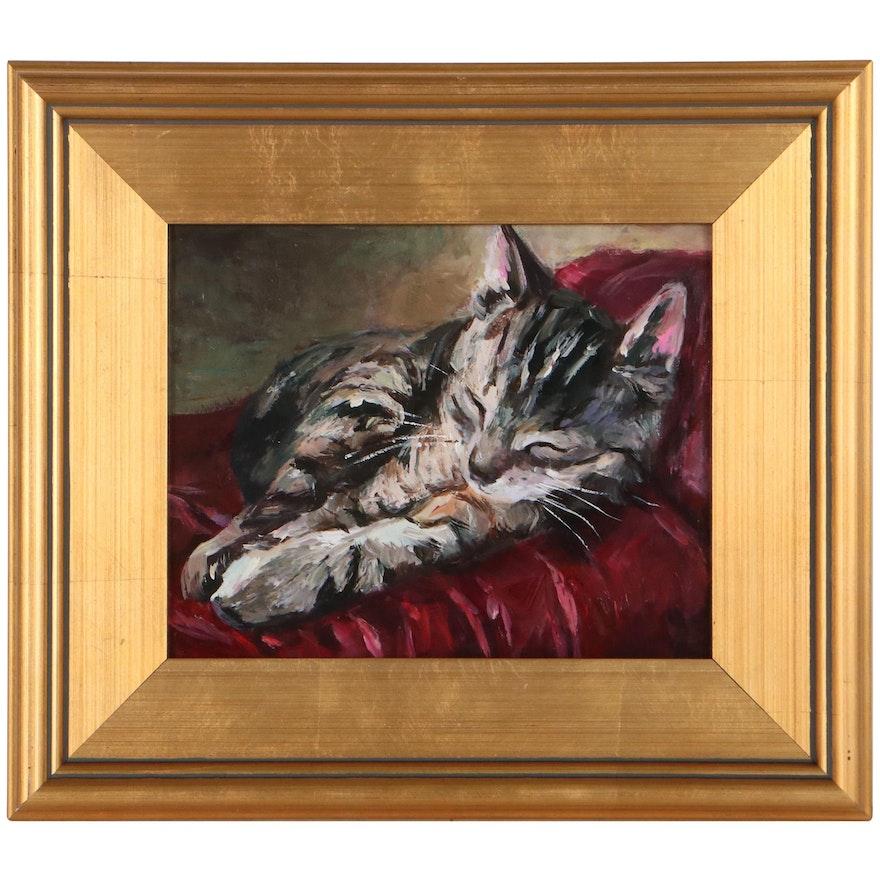 "Adam Deda Oil Painting ""Lazy Sunday,"" 2021"