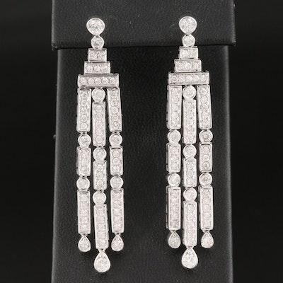 14K 2.48 CTW Diamond Waterfall Earrings