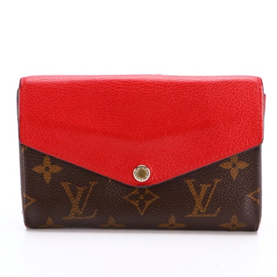 Louis Vuitton Pallas Compact Wallet in Monogram Coated Canvas and Leather