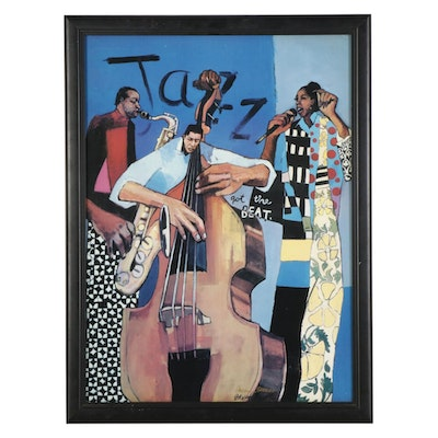 Patterson and Barnes Jazz Band Offset Lithograph, Late 20th to 21st Century
