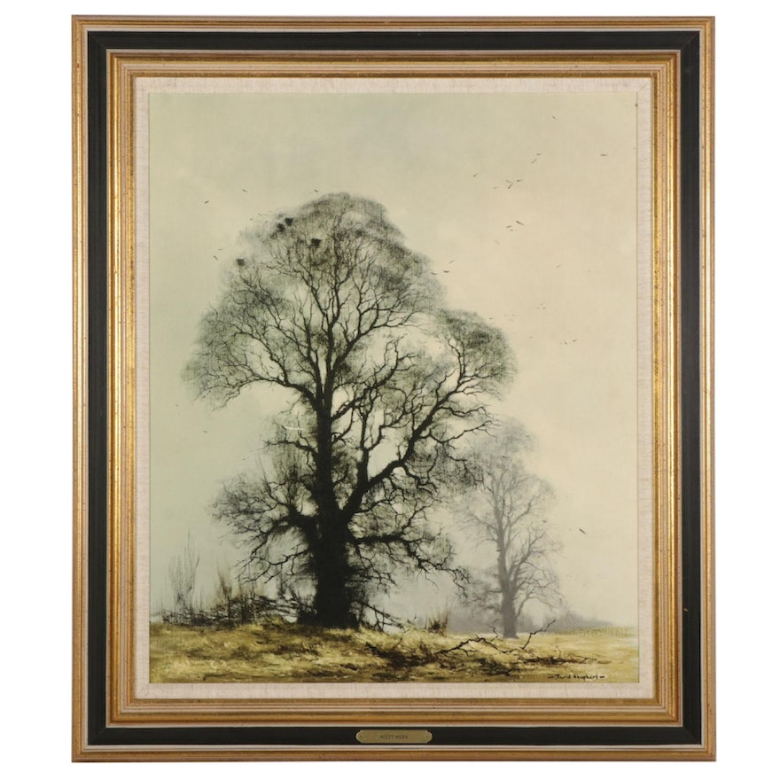 """Offset Lithograph After David Shepherd """"Misty Morn,"""" Late 20th Century"""