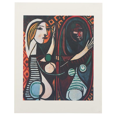 """Offset Lithograph after Pablo Picasso """"Girl Before a Mirror,"""" 21st Century"""